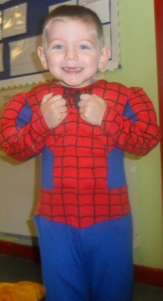 Is it Lewis... No its Spiderman!